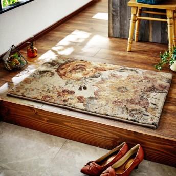 玄関マット おしゃれ マット ベルギー製ウイルトン織り玄関マット ベージュ 約60×90cm