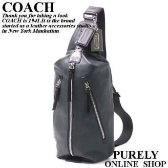 全品ポイント2倍 コーチ COACH バッグ メンズ トンプソン レザー スリング パック ショルダーバッグ 鞄 かばん 70360 SV/TE SS