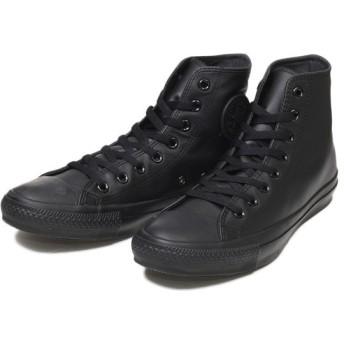 【converse】 コンバース レザーオールスター ハイ LEATHER ALL STAR HI BLACK_MONO