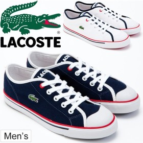 ラコステ LACOSTE メンズ スニーカー SHORE SRW ショア ローカット シューズ トリコロールカラー ネイビー ホワイト 靴 くつ 運動靴 男性用 カジュアル/M0009T