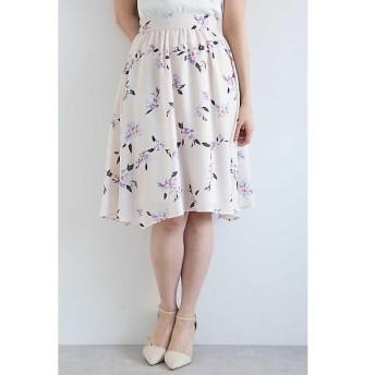 PROPORTION BODY DRESSING / プロポーションボディドレッシング  ◆ペインティングフラワーアシンメトリースカート