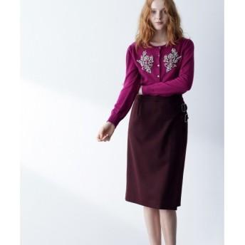 GRACE CONTINENTAL / グレースコンチネンタル ウールラップスカート