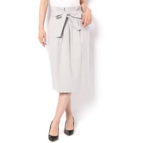 un dix cors / アンディコール リボン付きタイトギャザースカート