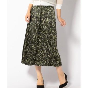 SHIPS for women / シップスウィメン シルクプリントプリーツスカート
