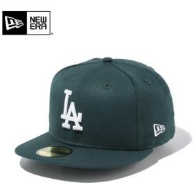 【メーカー取次】 NEW ERA ニューエラ 59FIFTY MLB ロサンゼルス・ドジャース ダークグリーンXホワイト 11308617 キャップ ブランド