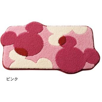 玄関マット おしゃれ マット ディズニー 洗えるふわふわの玄関マット ピンク 約60×90