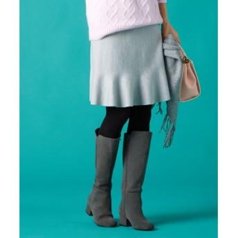 組曲 / クミキョク 【洗える/セットアップ対応】コンパクトウールストレッチ ニットスカート