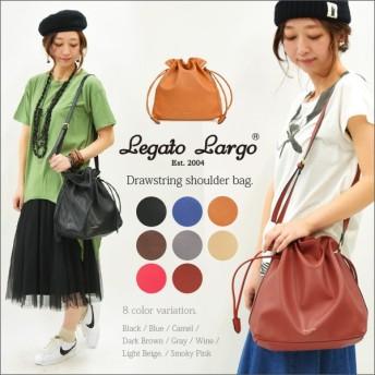 レガートラルゴ ショルダーバッグ 巾着バッグ フェイクレザー 鞄