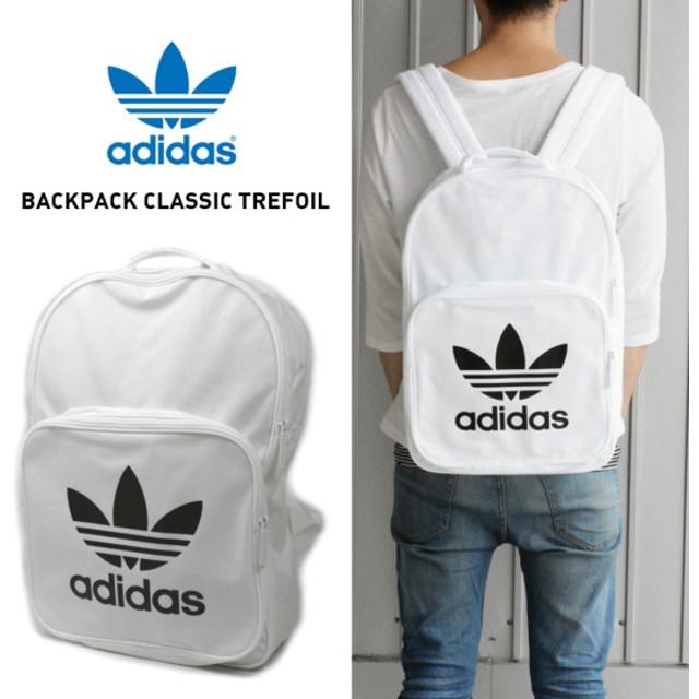 アディダス adidas バッグ バックパック クラシック トレフォイル BACKPACK CLASSIC TREFOIL ホワイト BP7307