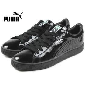 SALE プーマ PUMA BASKET MATTE & SHINE バスケット マット&シャイン ブラック/ブラック 358892-01