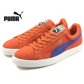 SALE プーマ PUMA SUEDE CLASSIC + スウェード クラシック プラス オレンジ/リモージュ/ホワイト 356568-59