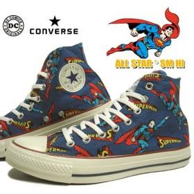 SALE コンバース CONVERSE オールスター SM HI ネイビー スーパーマン コラボ