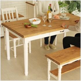 ミディ ダイニングテーブル CFS-211 ダイニング リビング テーブル 食卓 机 ウッド 木製 木目 天然木 アンティーク カントリー ナチュラル シンプル かわいい お