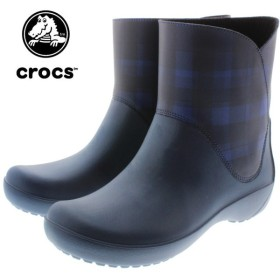 SALE クロックス crocs rainfloe bootie レインフロー ブーティ ネイビー 203866-410