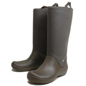 SALE クロックス crocs rain floe boot レインフロー ブーツ エスプレッソ/エスプレッソ