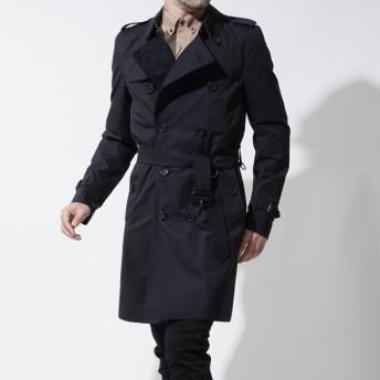 バーバリー BURBERRY トレンチコート ブルー メンズ コート トレンチ コート アウター イギリス おしゃれ 雨 雨具 4003183-navy