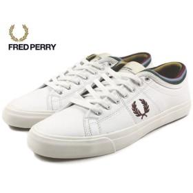 SALE フレッドペリー FRED PERRY KENDRICK TIPPED CUFF LEA ケンドリック ティップド カフ レザー ホワイト B7456-100
