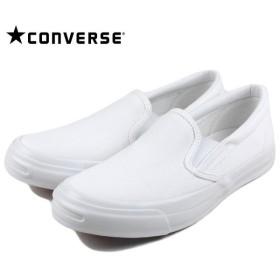 SALE コンバース CONVERSE ジャックパーセル NT ホワイトプラス スリップオン ホワイト 1CK272