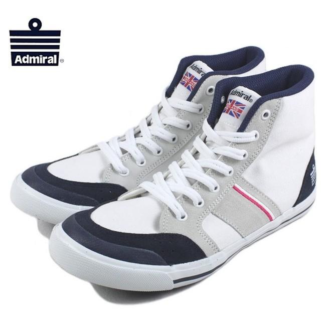 SALE アドミラル Admiral Inomer Hi イノマー ハイ ホワイト/ネイビー/ピンク SJAD1511-011013