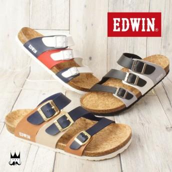 エドウィン EDWIN メンズ サンダル EW9170 フットベッドサンダル カジュアルシューズ コンフォート 夏