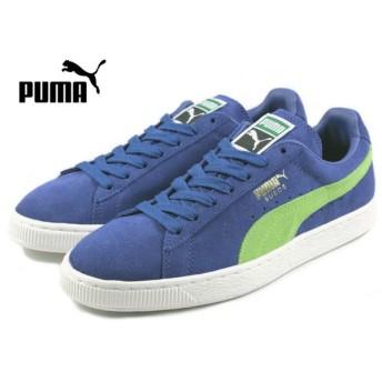 SALE プーマ PUMA SUEDE CLASSIC + スウェード クラシック プラス リモージュ/ジャスミングリーン/ホワイト 356568-58