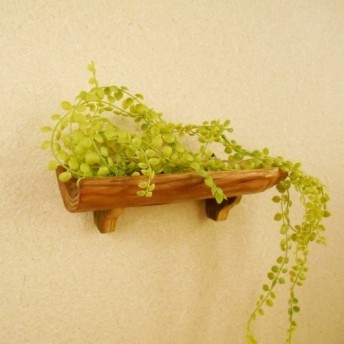 【温泉流木】幹の弧を形にした飾り棚 ウォールラック 壁掛け棚 流木インテリア