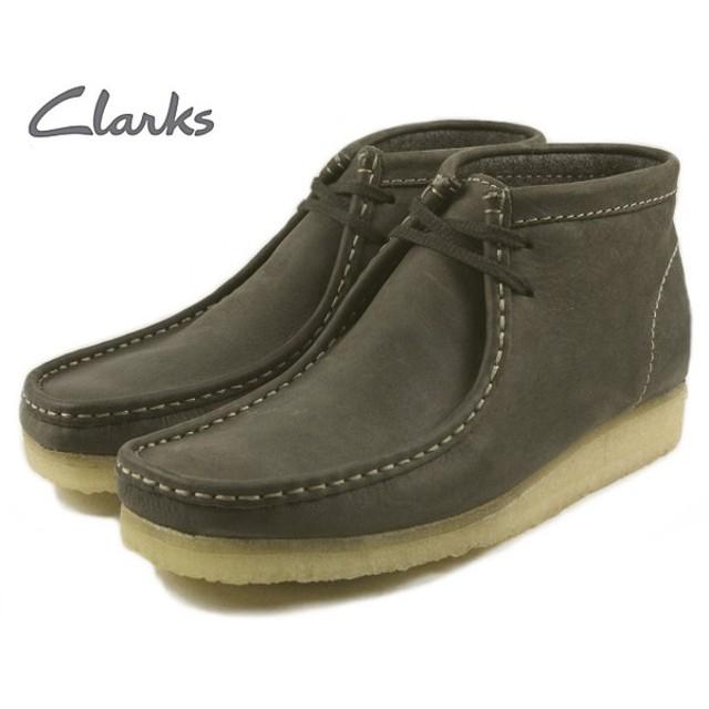 SALE クラークス Clarks WALLABEE BOOT ワラビーブーツ ダークグリーンレザー 455E-GREN