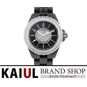 5a8a2d4e5eb9 シャネル J12 ダイヤベゼル センターダイヤ H1709 38mm ブラックセラミック SS 自動巻き メンズ 腕時計 SA