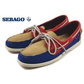 SALE セバゴ SEBAGO SPINNAKER スピンネーカー トープ/ブルー/レッドヌバック B720159