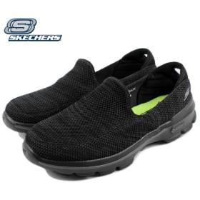 SALE スケッチャーズ スニーカー GO WALK 3 FITKNIT ゴー ウォーク 3 フィットニット ブラック/グレー 54047-BKGY