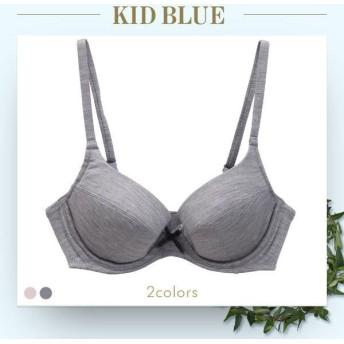 ブラジャー キッドブルー KID BLUE トップシルクベア天 3/4カップ ワイヤーブラジャー