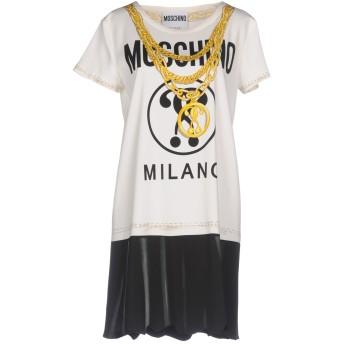 《期間限定セール開催中!》MOSCHINO レディース ミニワンピース&ドレス ホワイト 38 レーヨン 97% / 指定外繊維 3%