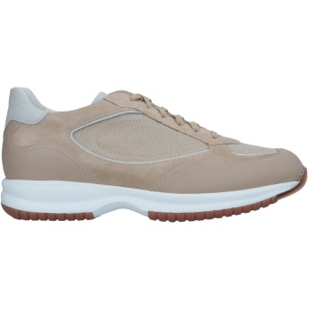 《セール開催中》SANTONI メンズ スニーカー&テニスシューズ(ローカット) ベージュ 5 革 / 紡績繊維