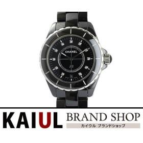 d3d6958962c2 シャネル J12 12Pダイヤ H2124 38mm ブラックセラミック クオーツ メンズ 腕時計 SAランク