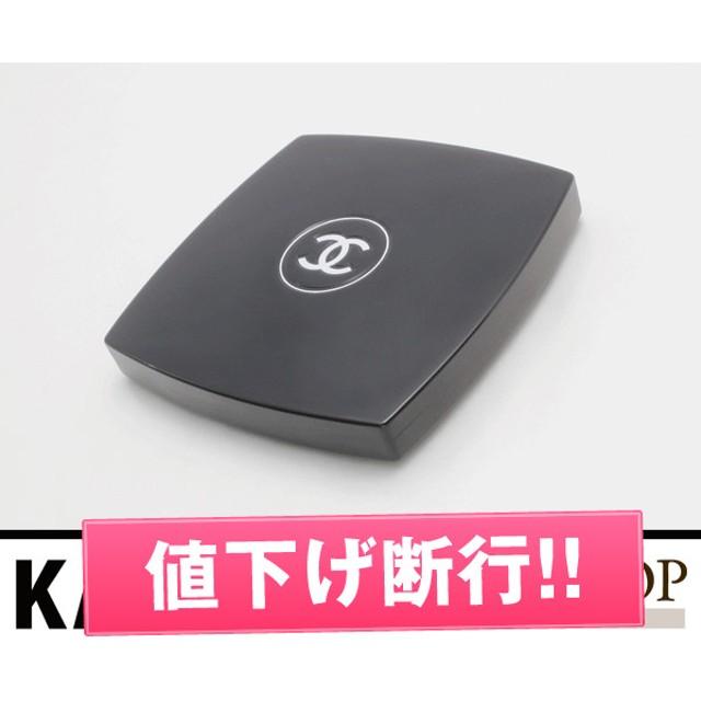 84ccd633c74c シャネル ミロワールドゥーブルファセット コンパクトミラー鏡ココマークコスメ化粧品ダブルミラー プラスチック ブラック×