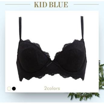 ブラジャー キッドブルー KID BLUE モノクロームレース 3/4カップ ワイヤーブラジャー