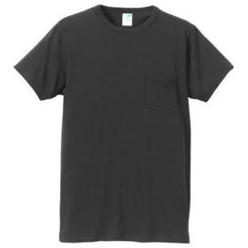 (ユナイテッドアスレ)UnitedAthle 4.4オンス トライブレンド Tシャツ(ポケット付) 129101 002 ブラック M