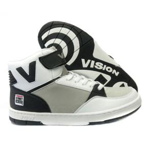 ヴィジョン VISION スニーカー ストリート ウェア レジェンド ミッド(WHT/BLK/GRY)ユニセックス