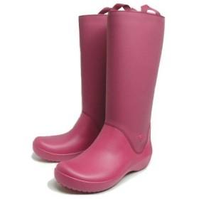 SALE クロックス crocs rain floe boot レインフロー ブーツ ポメグラネート/ポメグラネート