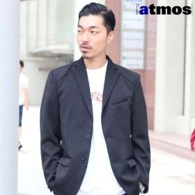 アトモス atmos ストレッチ ジャージー 2ボタン ジャケット(BLACK)メンズ