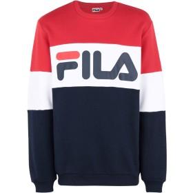 《期間限定セール開催中!》FILA HERITAGE メンズ スウェットシャツ ブルー S コットン 87% / ポリエステル 13% STRAIGHT BLOCKED CREW