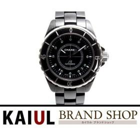 fe72be9d756c シャネル J12 H2131 ブラックセラミック ブラック×12Pエメラルド文字盤 A+ランク/中古 腕時計