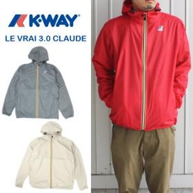 定番 ケーウェイ K-WAY ナイロンジャケット LE VRAI 3.0 CLAUDE K004BD0 サッビア(B92)レッド(K08)グレー/スモーク(216)