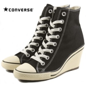 SALE コンバース CONVERSE ALL STAR WEDGE HI オールスター ウェッジ ハイ ブラック 32099221