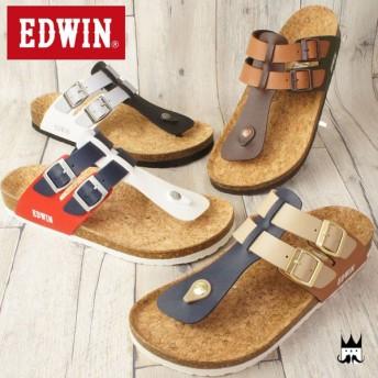 エドウィン EDWIN メンズ サンダル EW9171 フットベッドサンダル トングサンダル カジュアルシューズ コンフォート 夏