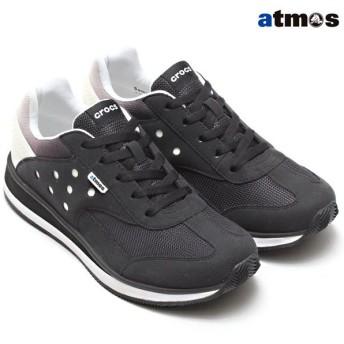 クロックス crocs レトロ アトモス スニーカー ATMOS(BLACK/WHITE)メンズ