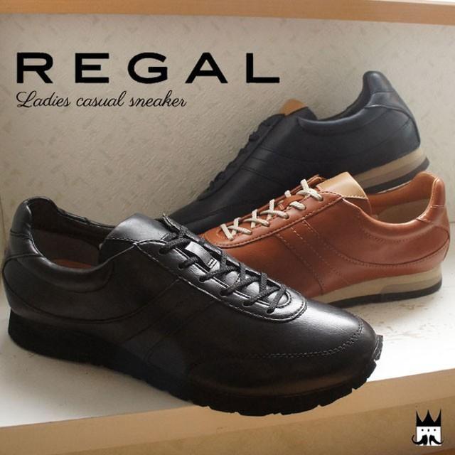 043055e8c1a0 リーガル REGAL レディース スニーカー BE68 レースアップ トラッド 紐靴 黒 ネイビー ブラウン