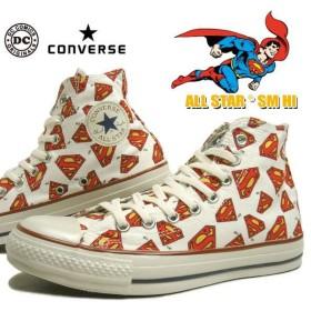 SALE コンバース CONVERSE オールスター SM HI ホワイト スーパーマン コラボ