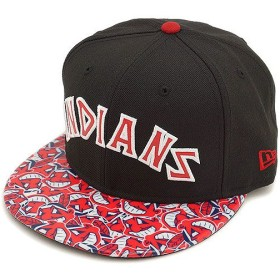 NEW ERA ニューエラ キャップ 9FIFTY MLB クリーブランド・インディアンズ グロッシー BLK/RED/SWHT  N0021201 FW14/NEWERA