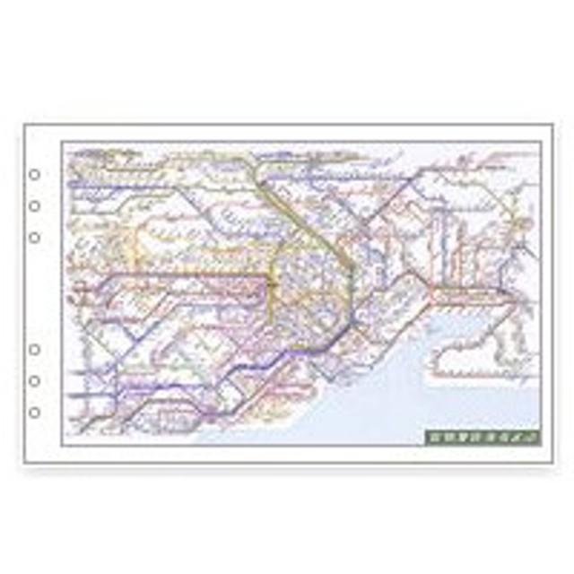 レイメイ藤井 ダ・ヴィンチ リフィル 聖書サイズ 情報 広域鉄道路線図 DR353